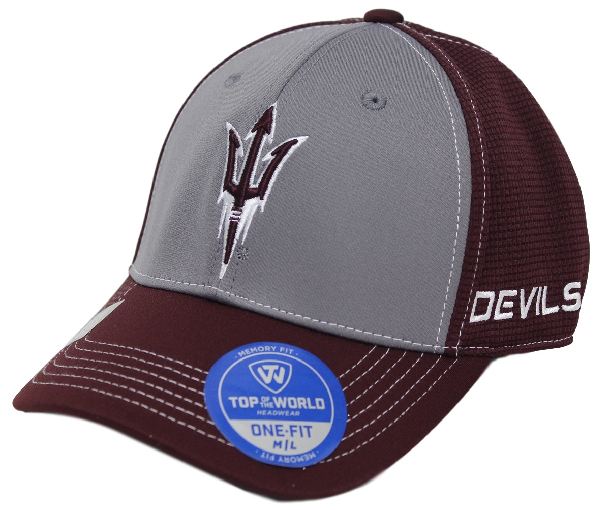 "Arizona State Sun Devils NCAA TOW ""Dynamic"" Memory Fit Performance Mesh Hat"