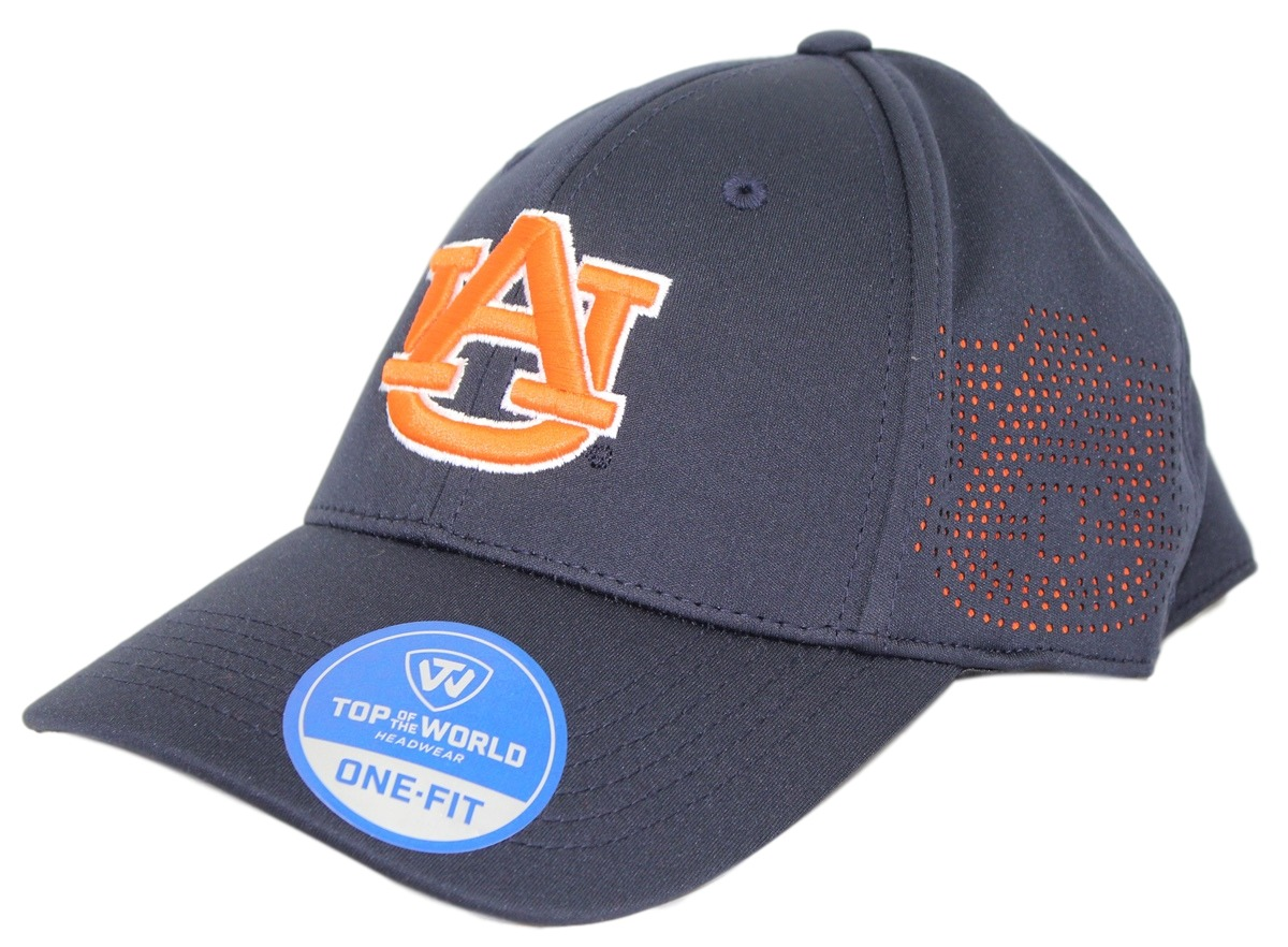 "Auburn Tigers NCAA TOW ""Rails Black"" Stretch Fit Performance Mesh Hat"
