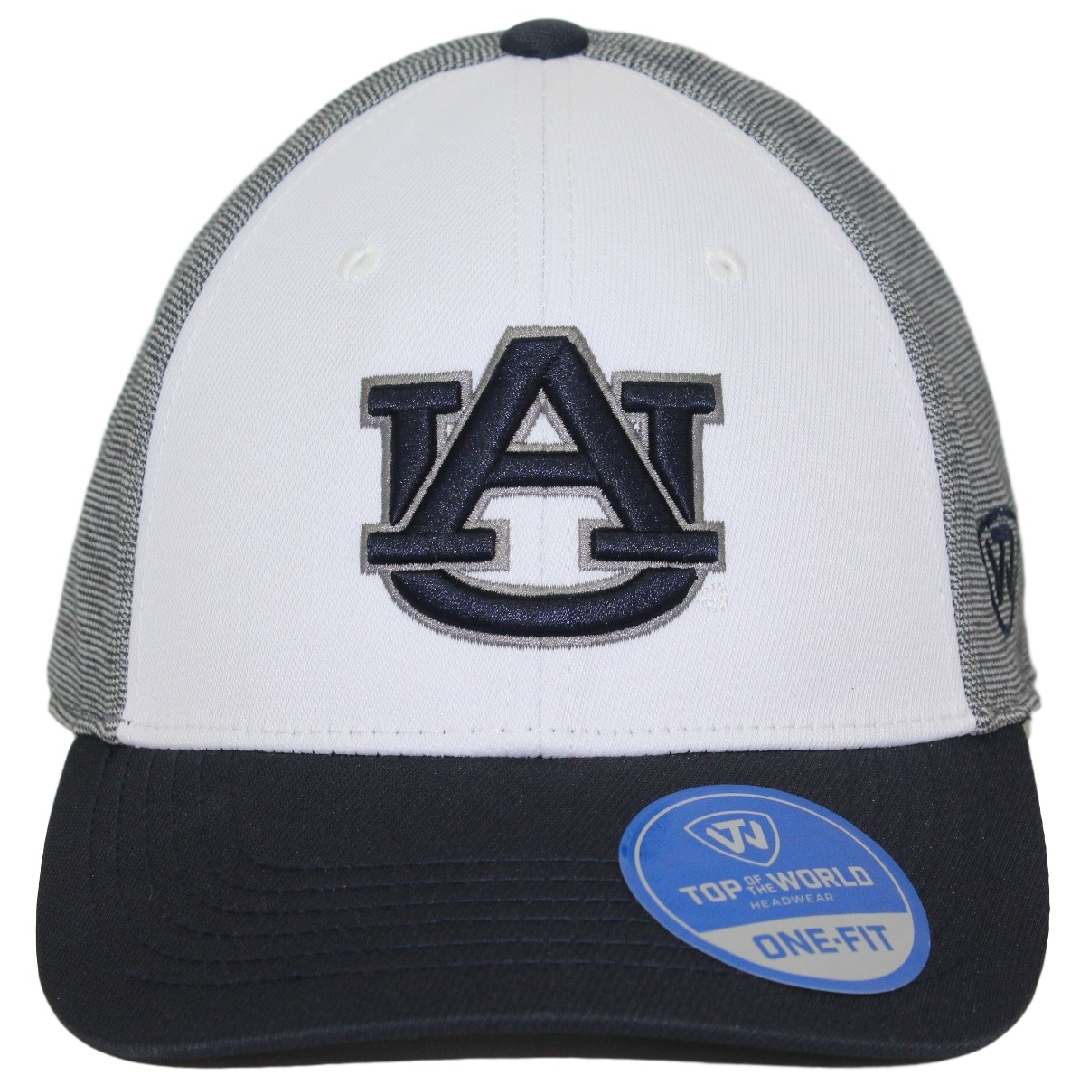 "Auburn Tigers NCAA Top of the World ""Hustle"" Stretch Fit Performance Hat"