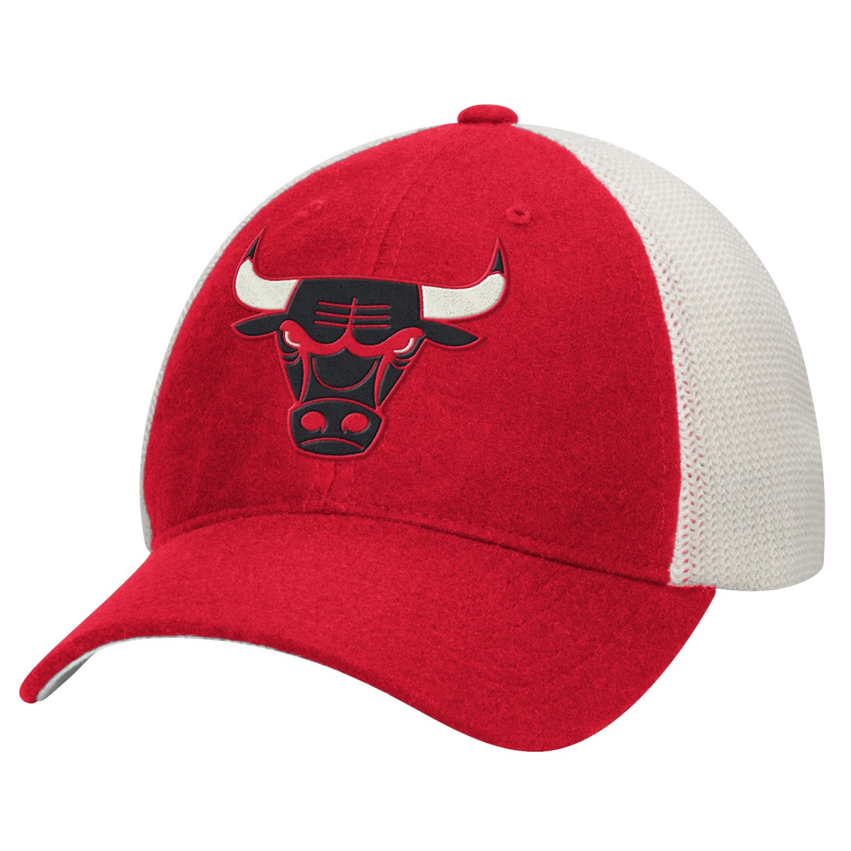Chicago Bulls Mitchell & Ness NBA Throwback Mesh Back Slouch Adjustable Hat