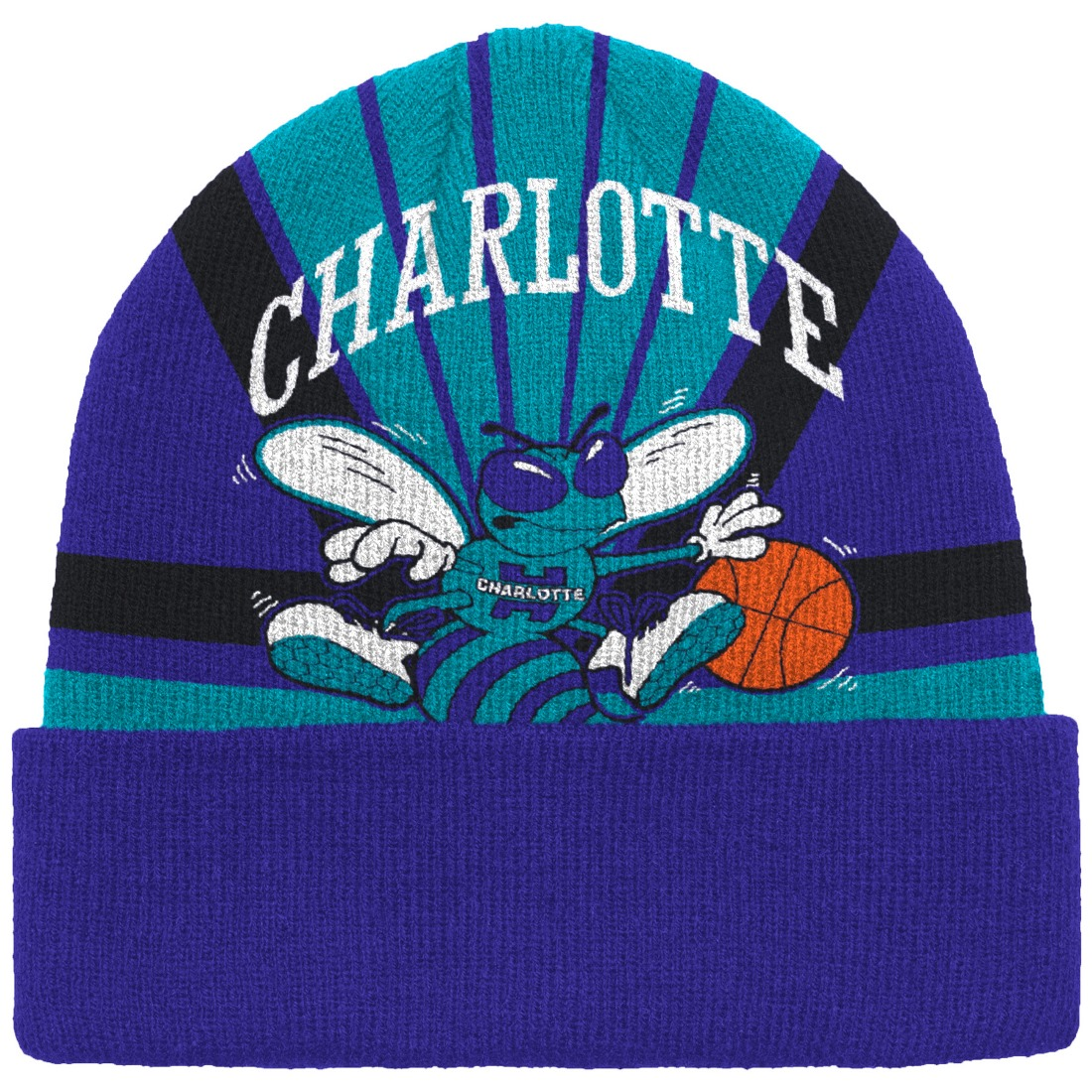 "Charlotte Hornets Mitchell & Ness NBA ""Stop On A Dime"" Retro Cuffed Knit Hat"
