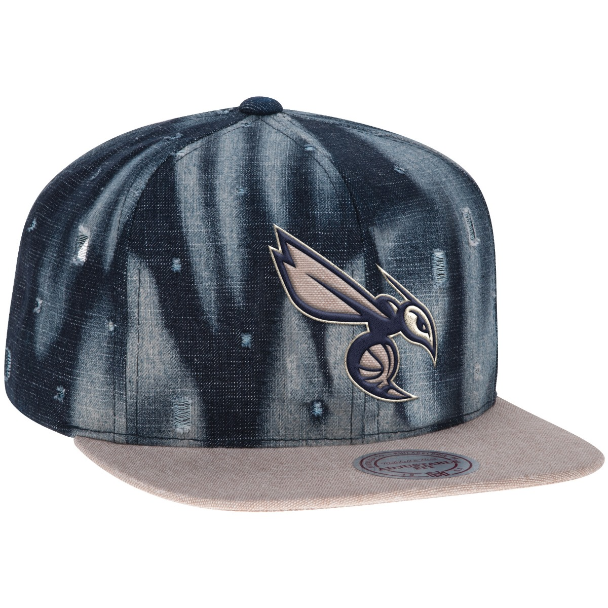 "Charlotte Hornets Mitchell & Ness NBA ""Torn Denim"" Snap Back Hat"