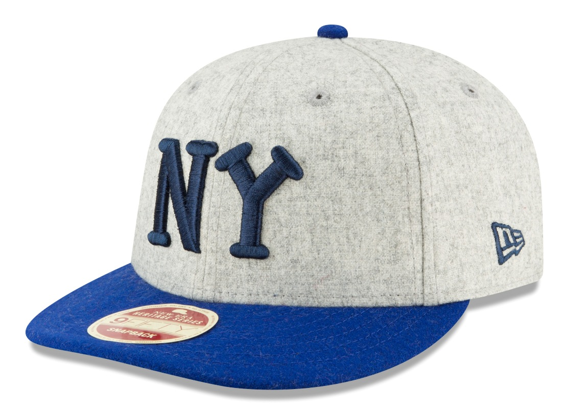 "New York Black Yankees New Era 9FIFTY Negro League ""Melton Wool"" Snapback Hat"