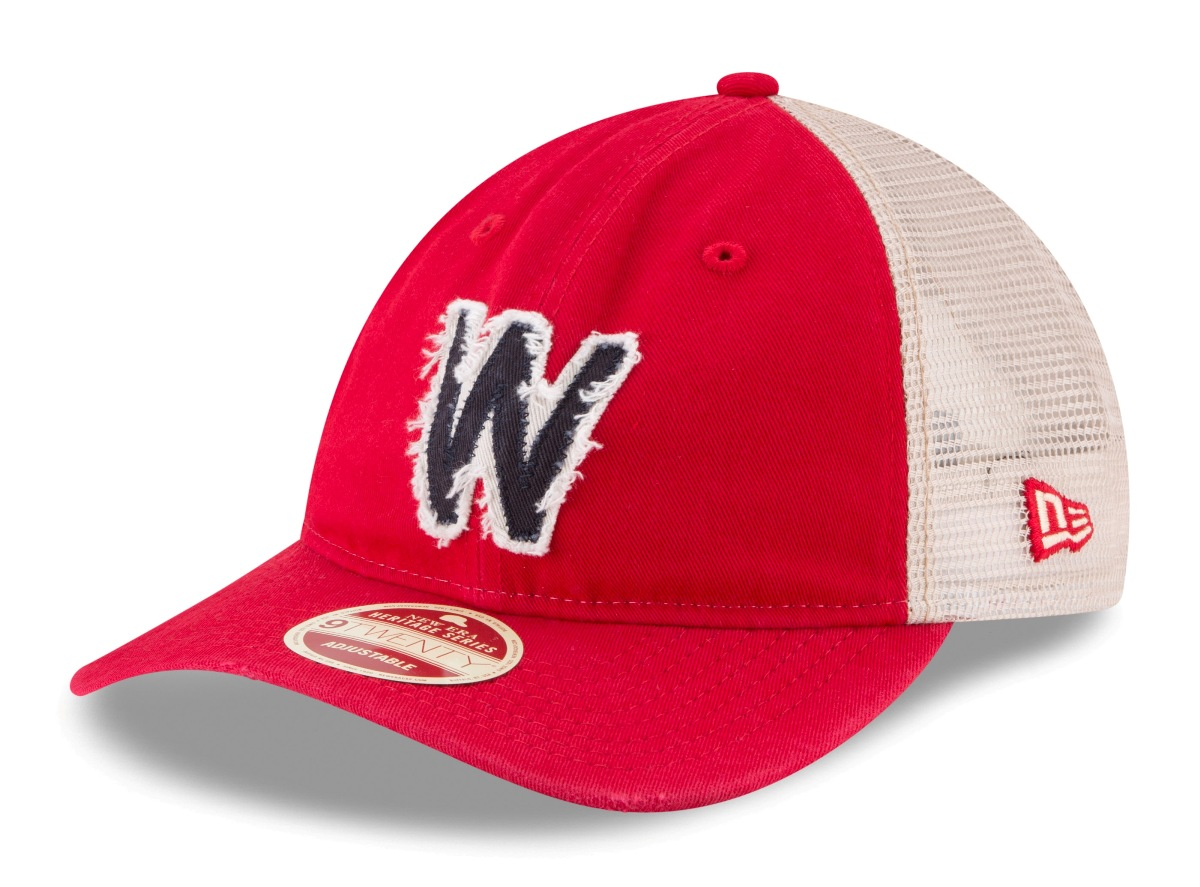 Washington Senators New Era MLB 9Twenty Cooperstown Frayed Twill 2 Mesh Back Hat