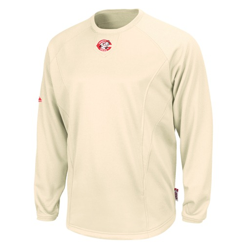 Cincinnati Reds MLB Cooperstown Natural Therma Base Tech Fleece