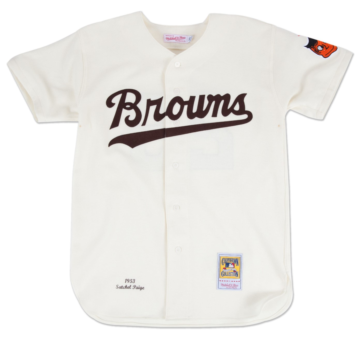 Satchel Paige St. Louis Browns Mitchell & Ness Authentic MLB 1953 Home Jersey
