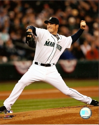 Eric Bedard Mariners Pitching 8x10 Photo