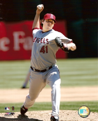 John Lackey Angels Pitching 8x10 Photo