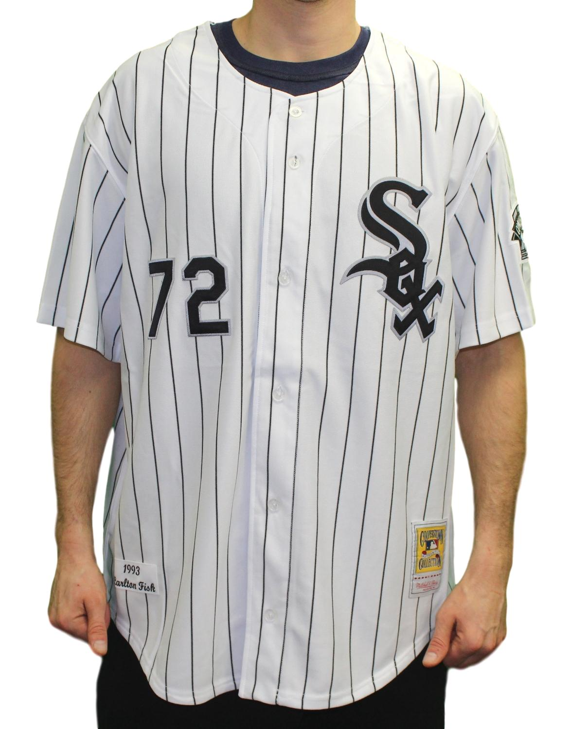 Carlton Fisk Chicago White Sox Mitchell & Ness MLB Authentic 1993 Jersey