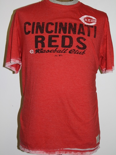 "Cincinnati Reds Majestic ""Scoring Streak"" Washed Red Burnout Premium T-Shirt"