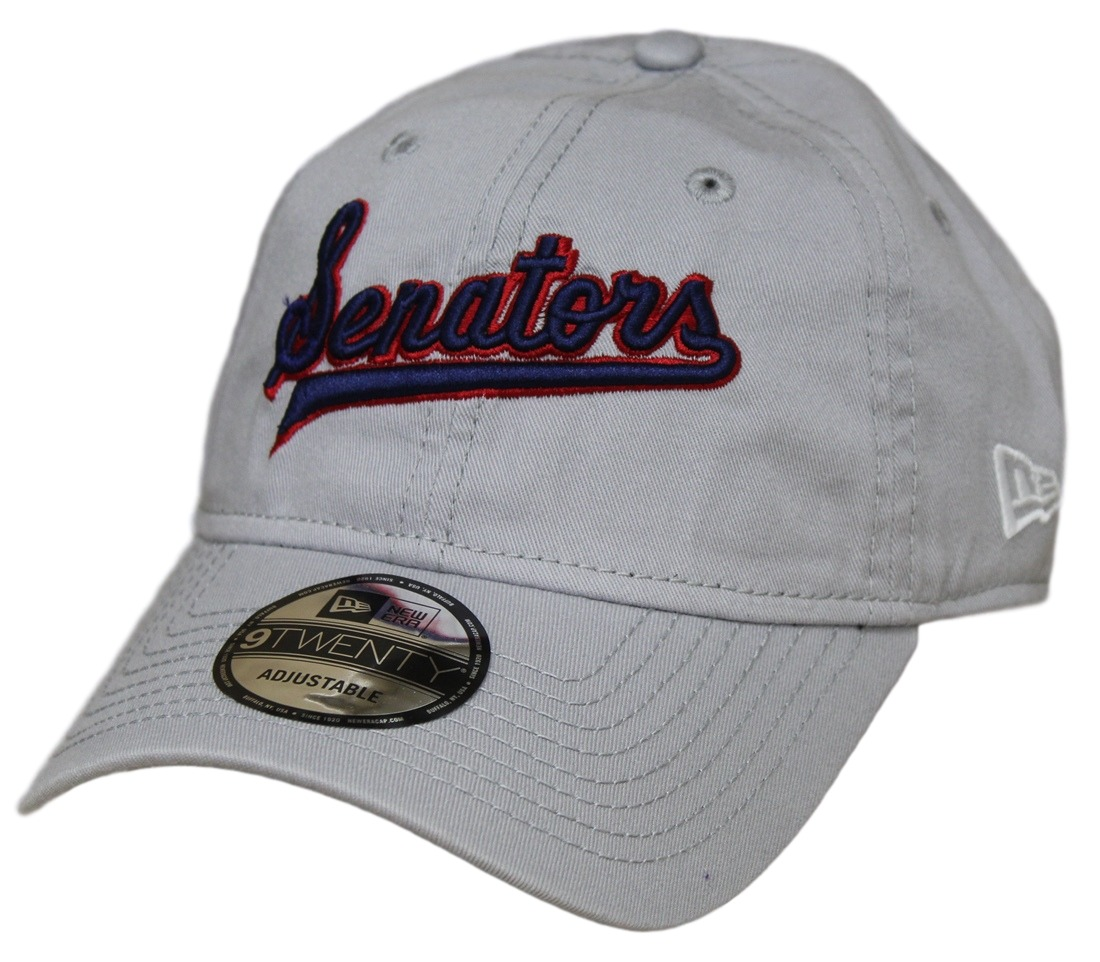 Washington Senators New Era MLB 9Twenty Cooperstown Adjustable Grey Hat