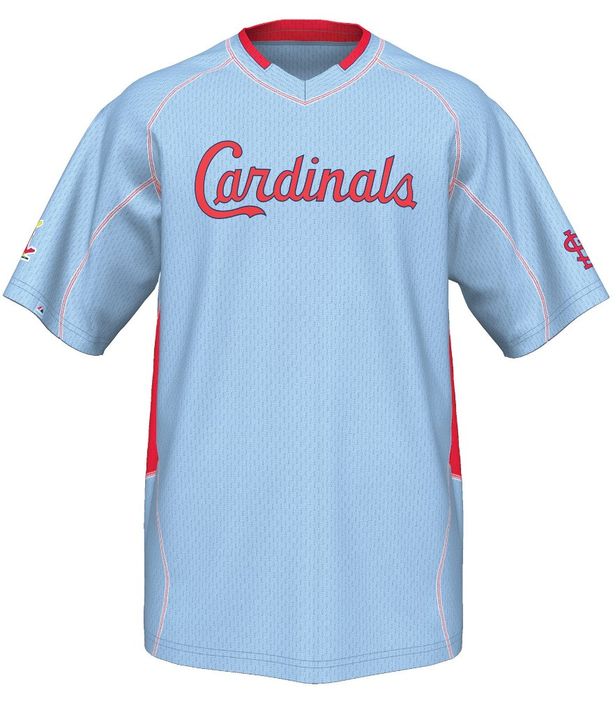 "St. Louis Cardinals Majestic MLB Cooperstown ""Vintage Champ"" V-Neck Jersey"