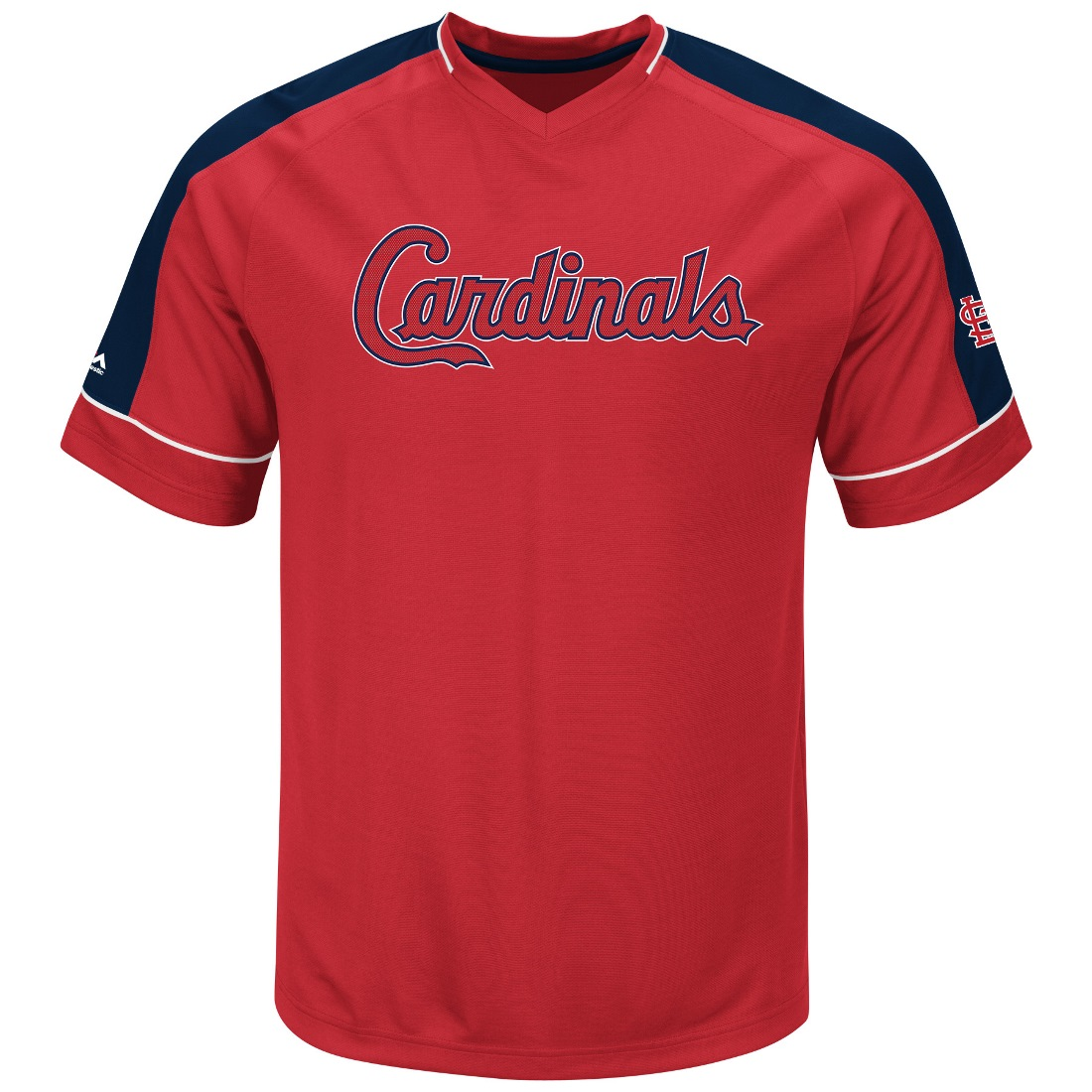 "St. Louis Cardinals Majestic MLB ""Lead Off Hitter"" V-Neck Men's Fashion Jersey"