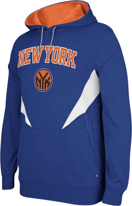 New York Knicks Adidas 2013 NBA Resonate Performance Hooded Sweatshirt