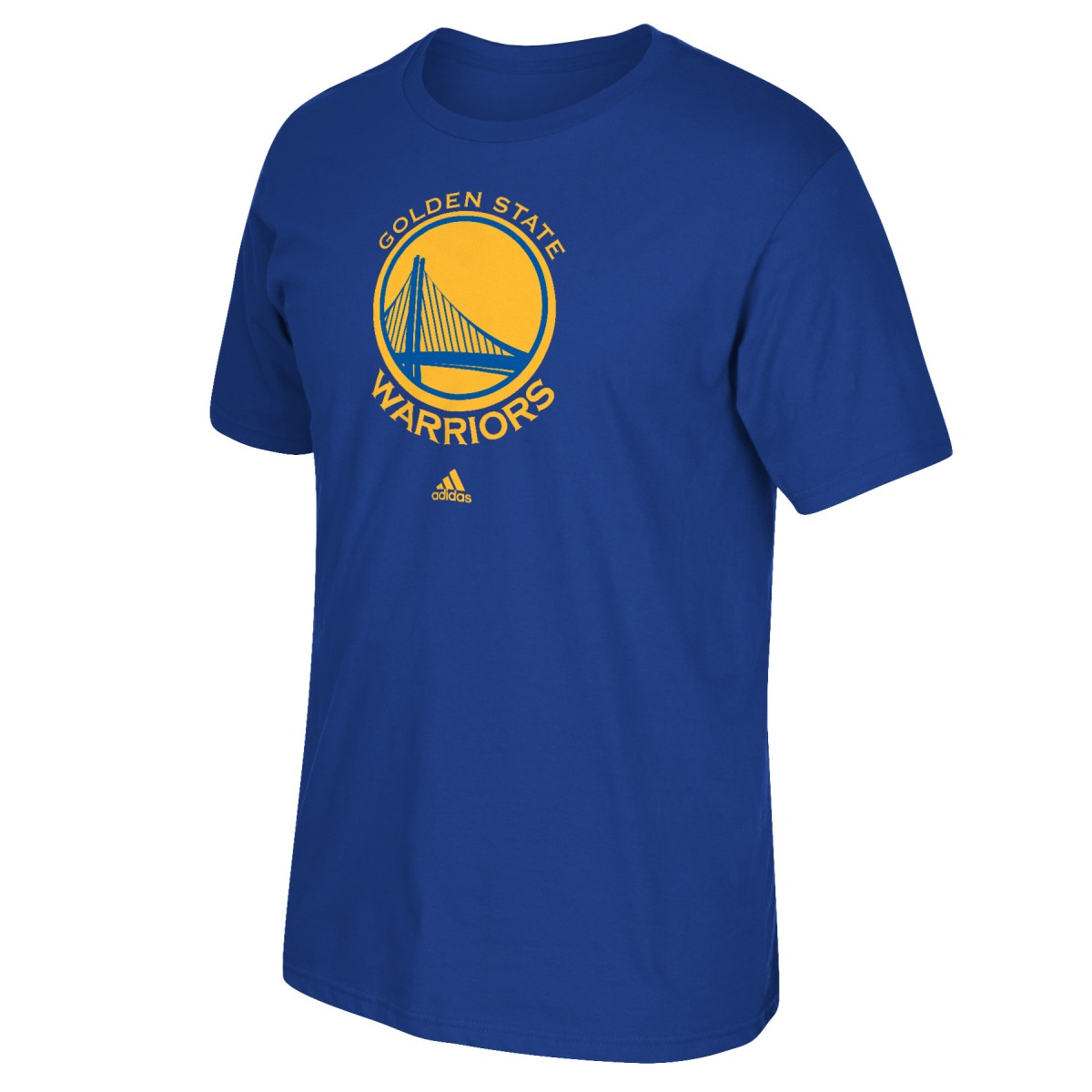 Golden State Warriors Adidas Blue Full Primary Logo T-Shirt
