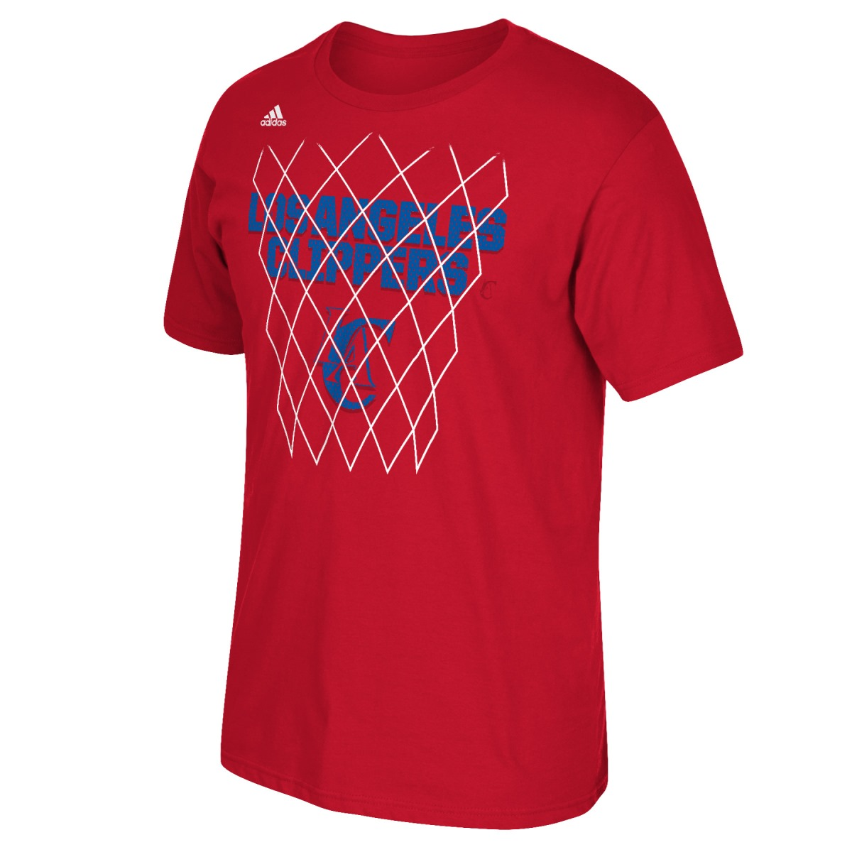 "Los Angeles Clippers Adidas NBA ""Net Up"" Men's Short Sleeve T-Shirt"