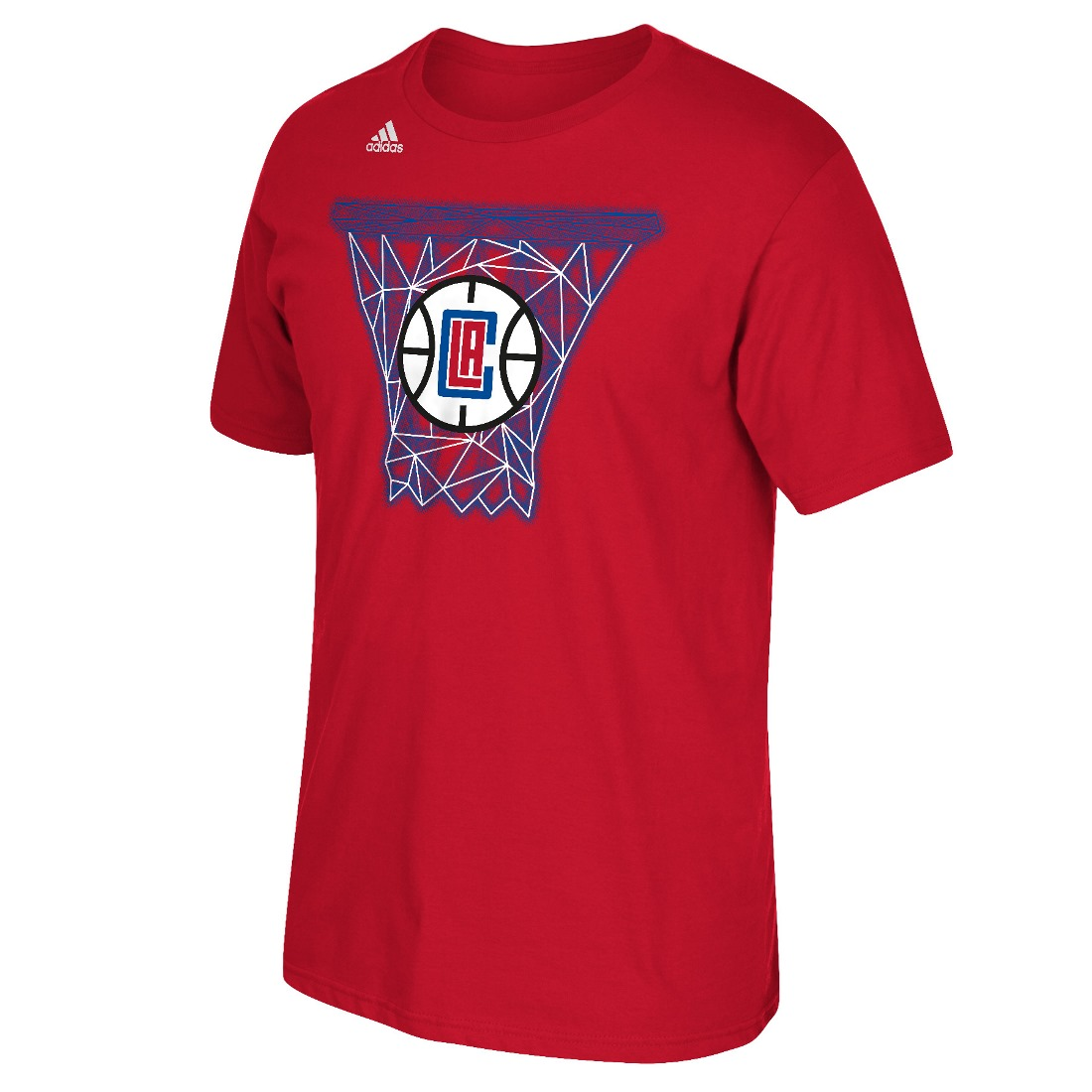 "Los Angeles Clippers Adidas NBA ""Net Web"" Men's Short Sleeve T-Shirt"