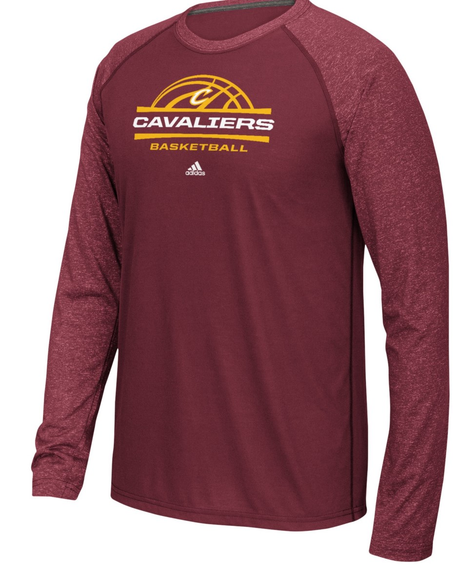 "Cleveland Cavaliers Adidas NBA ""Court King"" Men's Climalite L/S T-Shirt"
