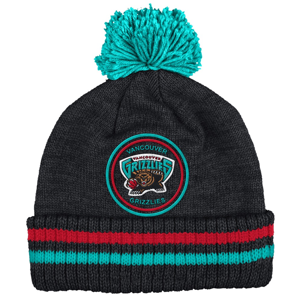 "Vancouver Grizzlies Mitchell & Ness NBA ""Big Man"" Cuffed Premium Pom Knit Hat"