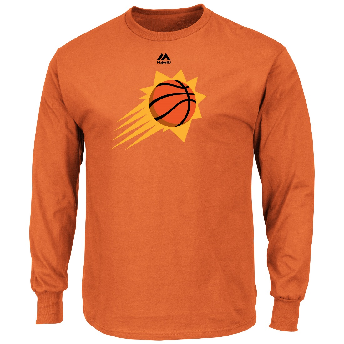 "Phoenix Suns Majestic NBA ""Supreme Logo"" Men's Long Sleeve T-Shirt - Orange"