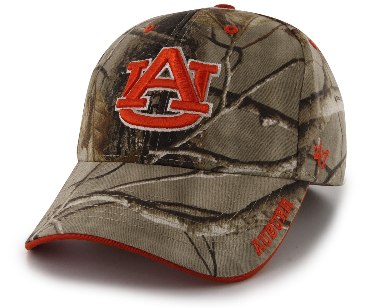 "Auburn Tigers 47 Brand NCAA ""Realtree Frost"" Structured Hat - Camo"