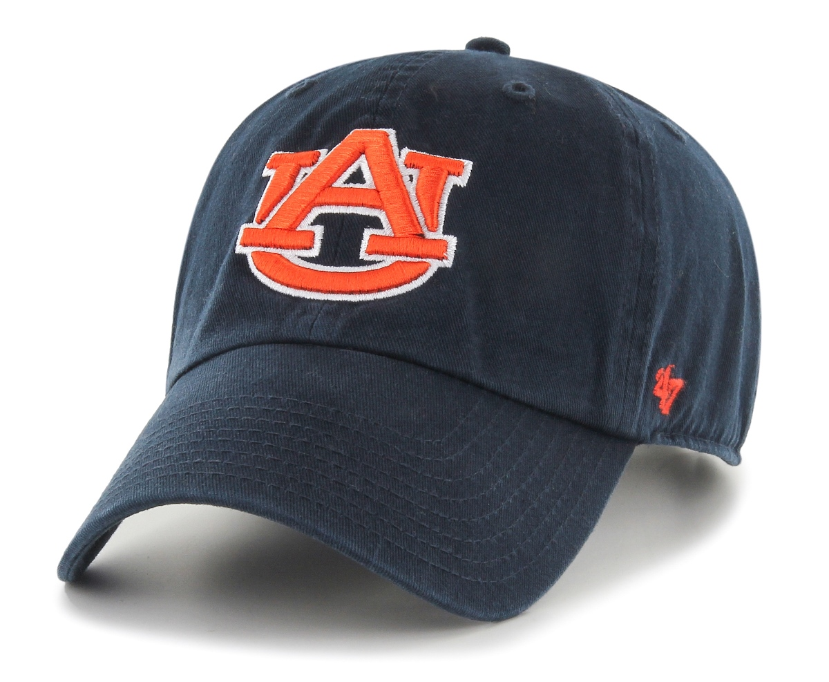 Auburn Tigers 47 Brand NCAA Clean Up Adjustable Hat - Navy