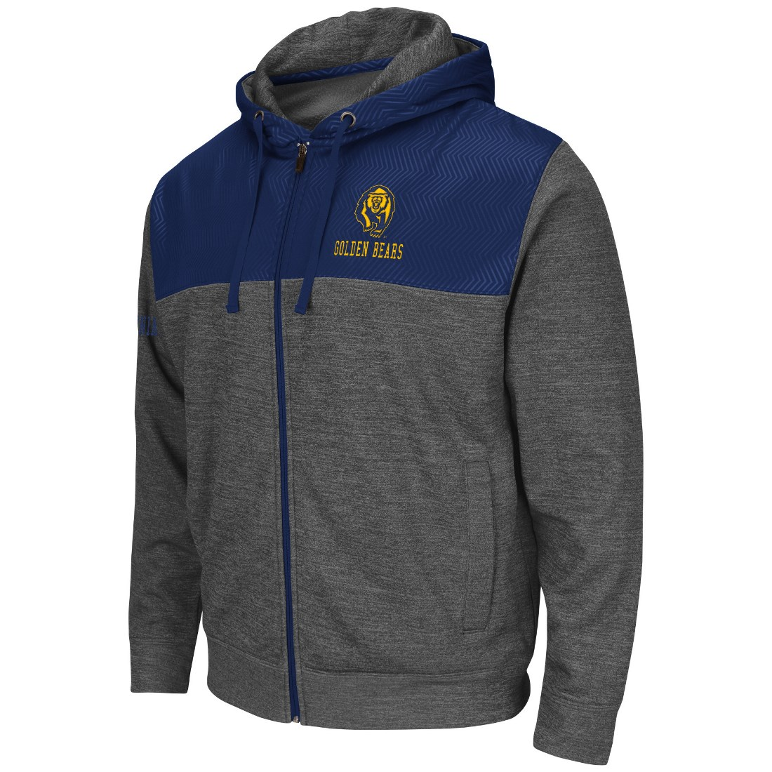 "California Golden Bears NCAA ""Tread"" Full Zip Hooded Men's Sweatshirt - Charcoal"