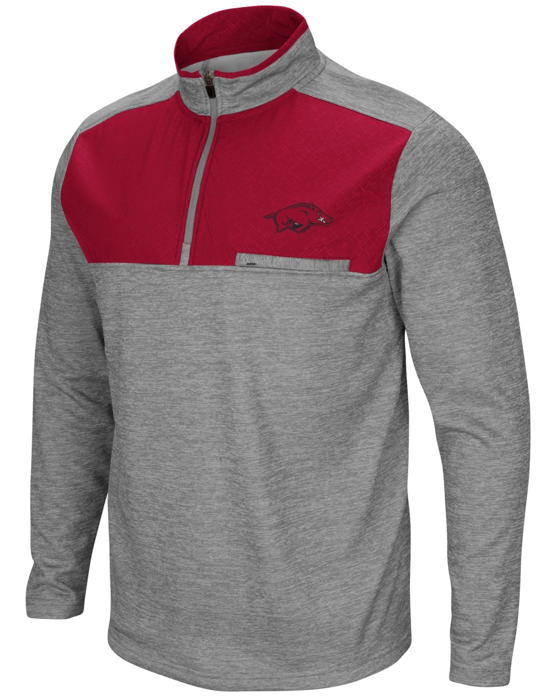 "Arkansas Razorbacks NCAA ""Curl Route"" Men's 1/4 Zip Fleece Jacket"