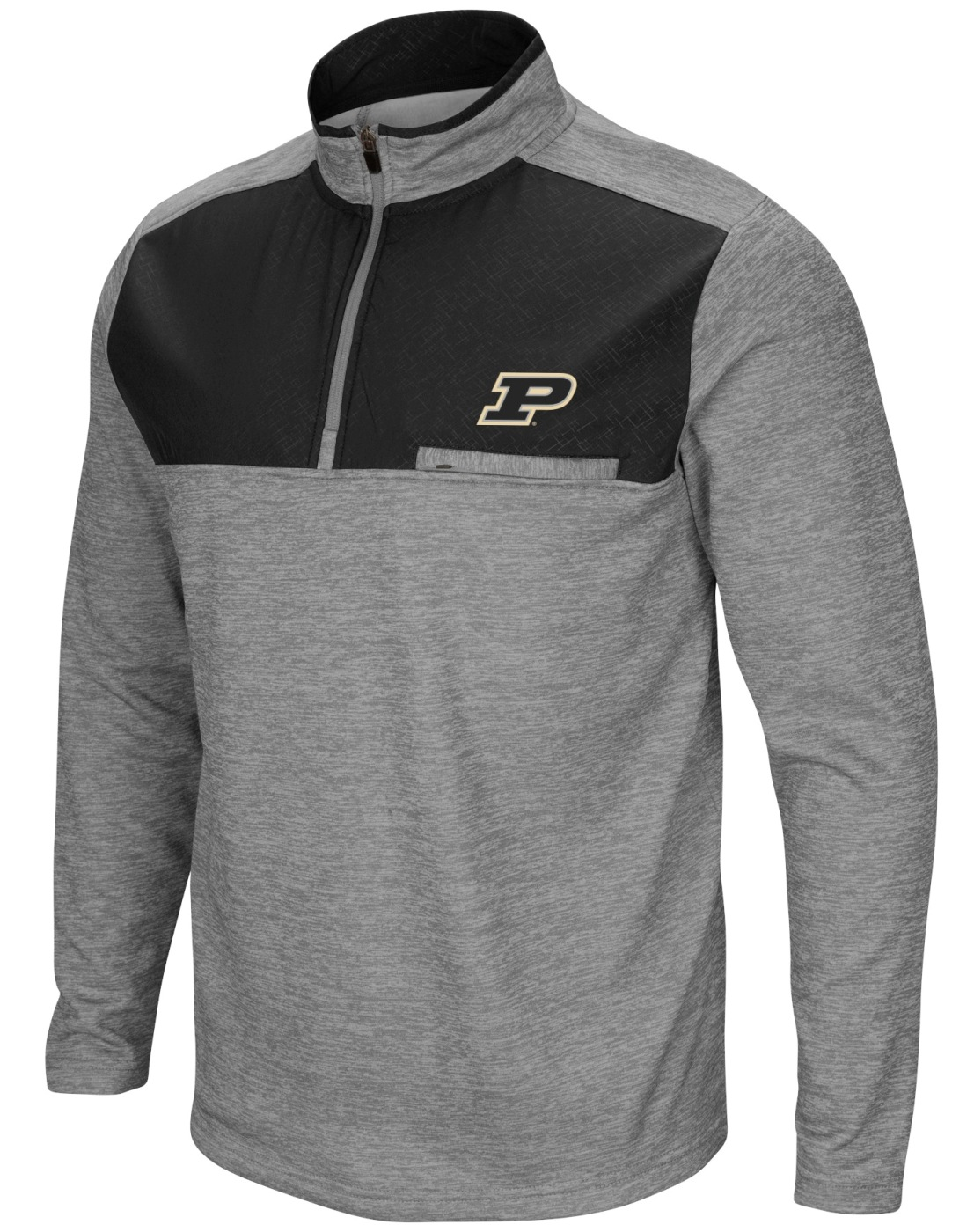 "Purdue Boilermakers NCAA ""Curl Route"" Men's 1/4 Zip Fleece Jacket"