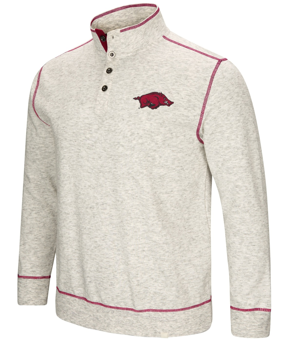 "Arkansas Razorbacks Men's NCAA ""Bowl Game"" 1/2 Button Up Henley Sweatshirt"