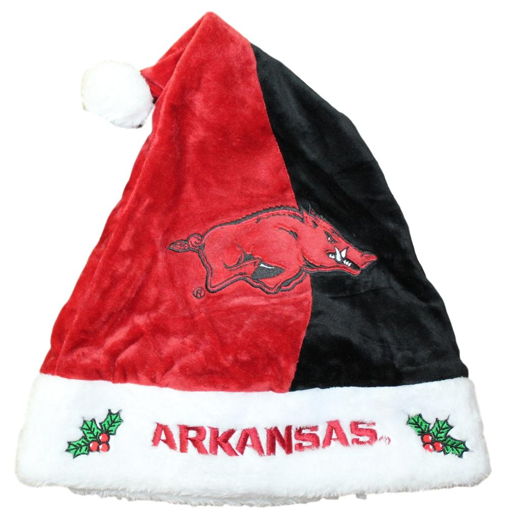 Arkansas Razorbacks 2017 NCAA Basic Logo Plush Christmas Santa Hat