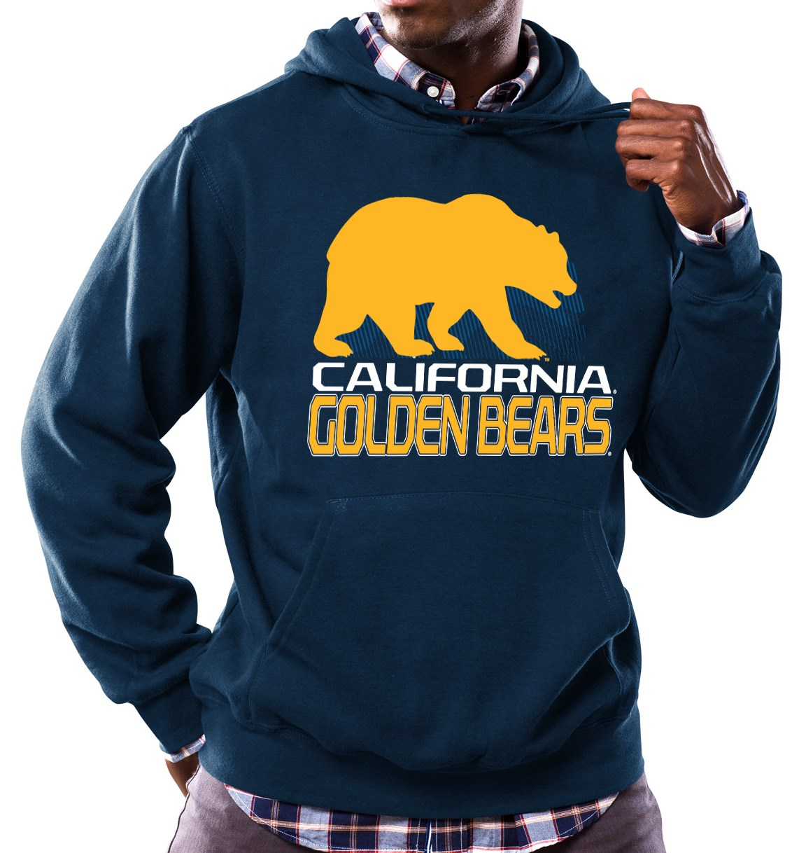 "California Golden Bears NCAA Majestic ""Focused"" Men's Hooded Sweatshirt"