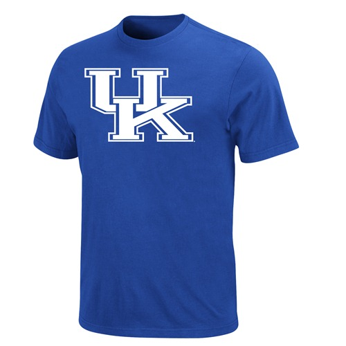 "Kentucky Wildcats Majestic NCAA ""Football Icon"" Blue T-Shirt"