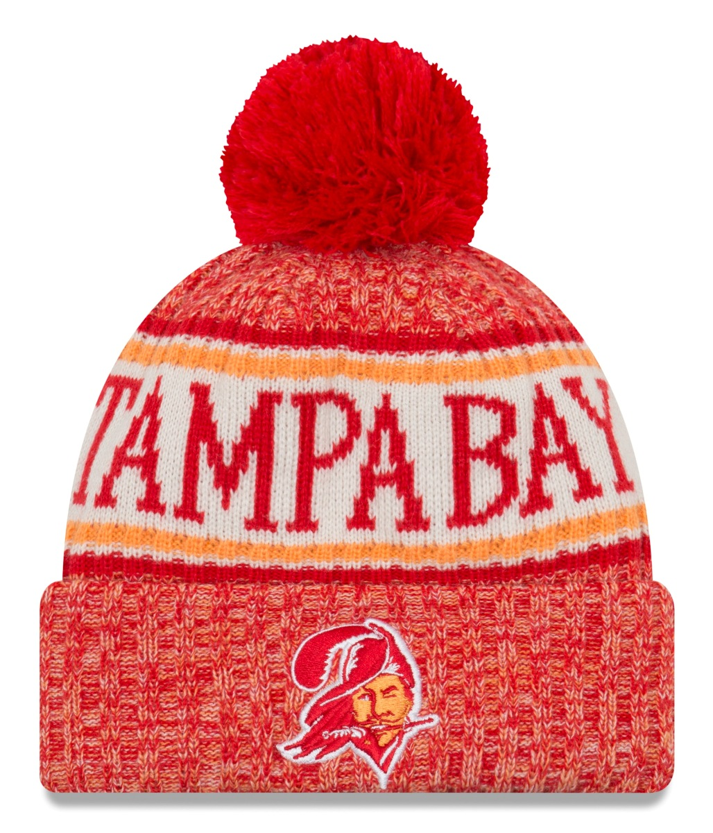 Tampa Bay Buccaneers New Era 2018 NFL Sideline On Field Historic Sport Knit Hat