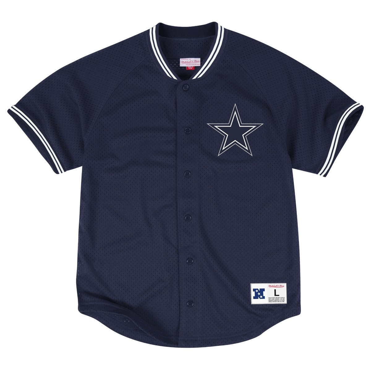 "Dallas Cowboys Mitchell & Ness NFL ""Seasoned Pro 2"" Men's Button Up Jersey Shirt"