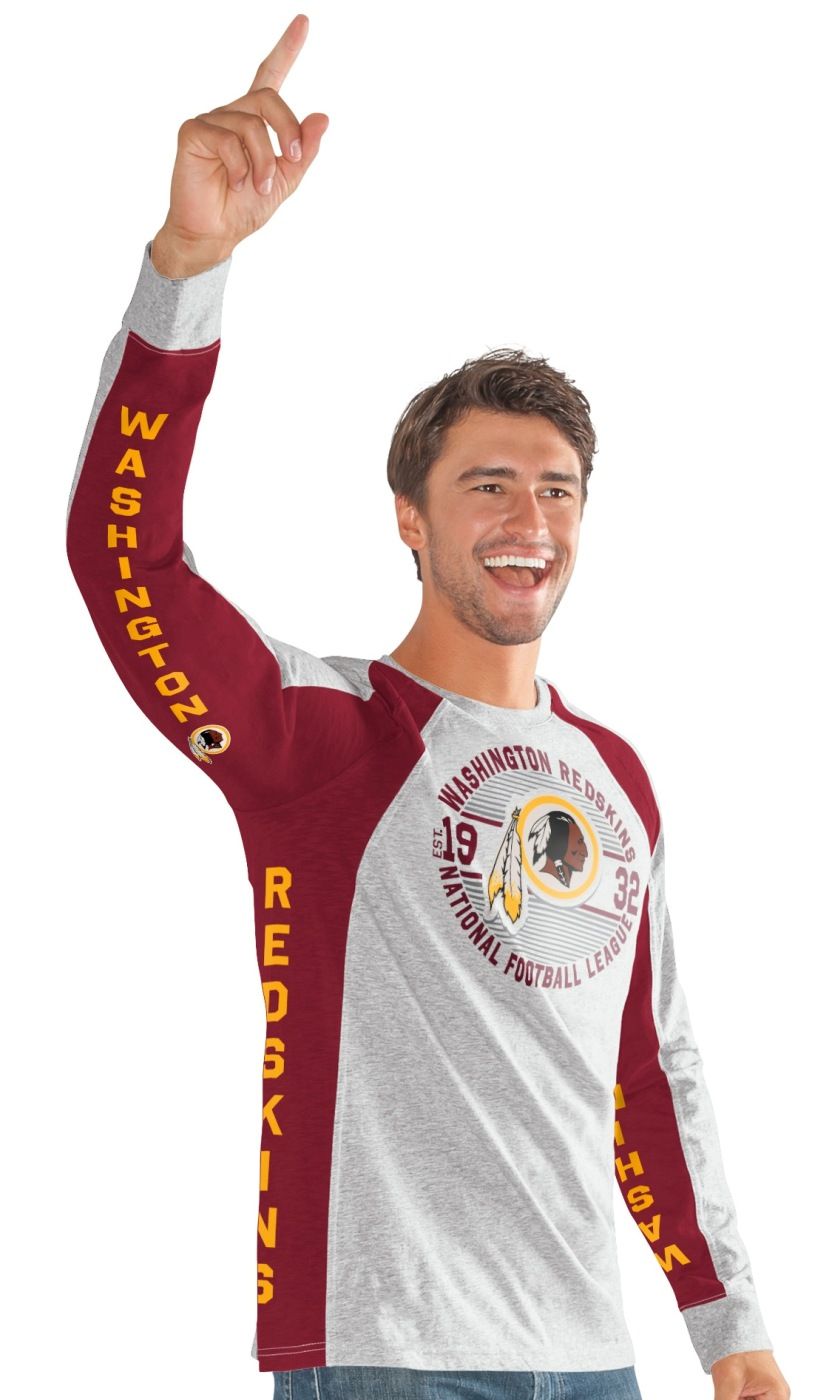 "Washington Redskins G-III NFL ""Big Hitter"" Men's Long Sleeve Slub Shirt"