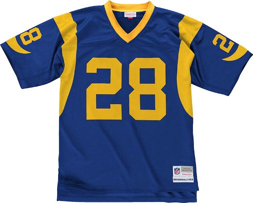 Marshall Faulk St. Louis Rams NFL Mitchell & Ness Premier Jersey - Blue