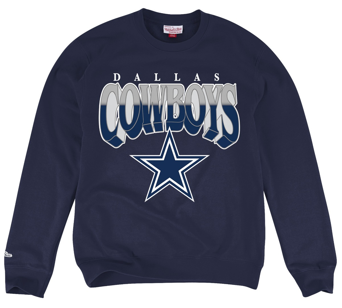 "Dallas Cowboys Mitchell & Ness NFL ""Rushing Line"" Men's Crew Sweatshirt"