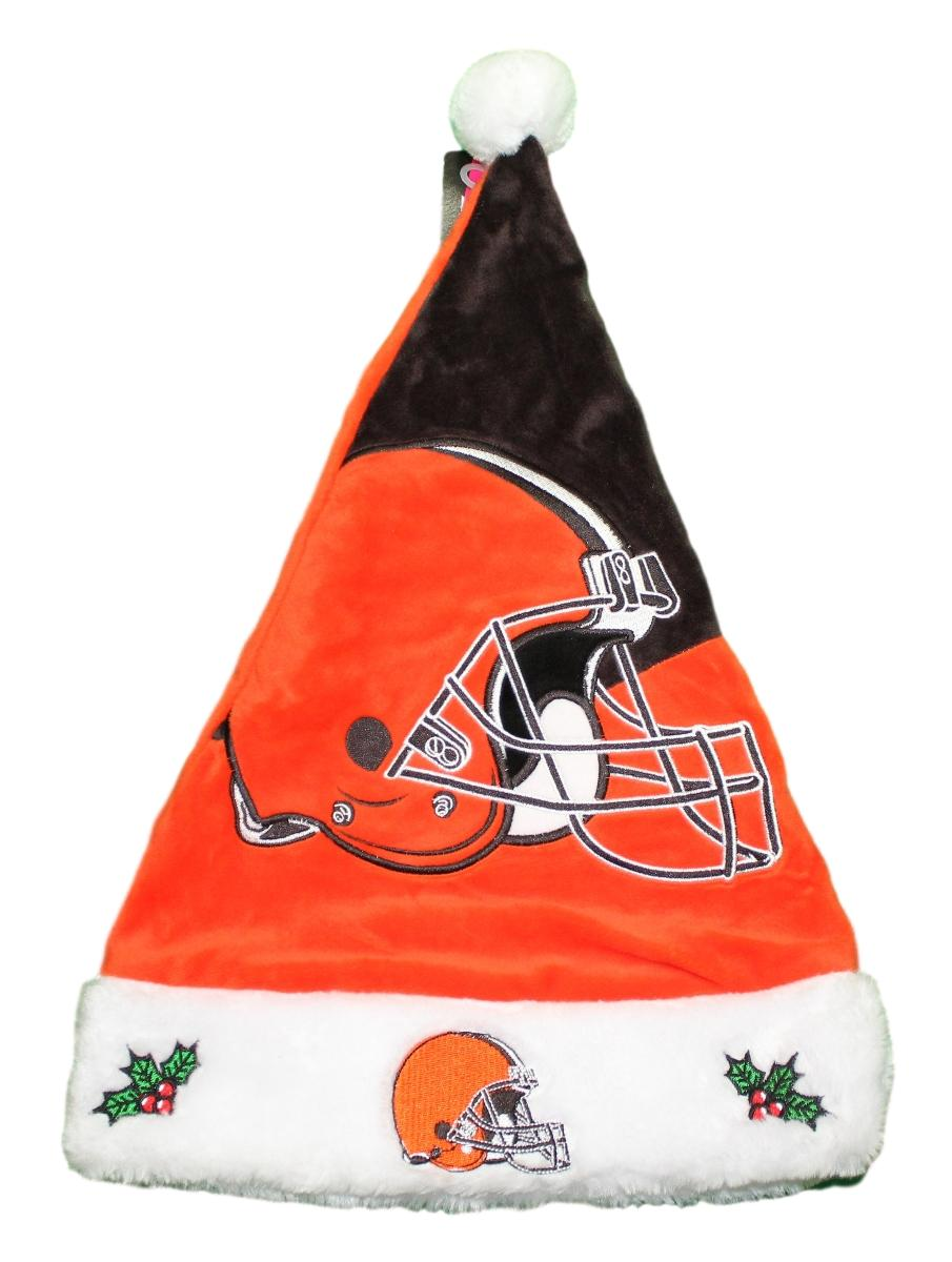 Cleveland Browns 2018 NFL Basic Logo Plush Christmas Santa Hat