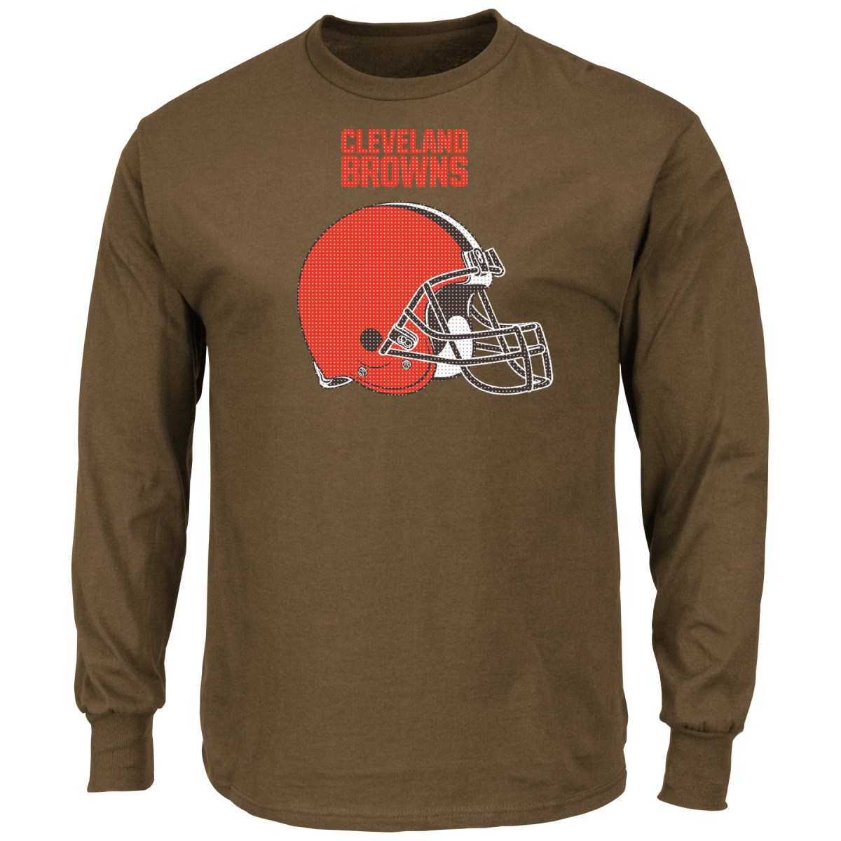 "Cleveland Browns Majestic NFL ""Critical Victory 2"" Men's Long Sleeve T-Shirt"
