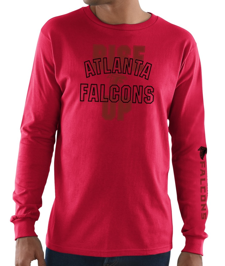 Atlanta Falcons Majestic NFL Primary Receiver 3 Men's Long Sleeve T-Shirt