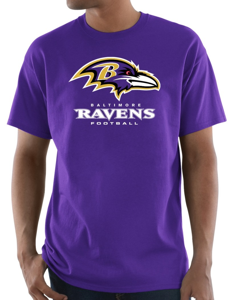 "Baltimore Ravens Majestic NFL ""Critical Victory 3"" Men's S/S T-Shirt - Purple"