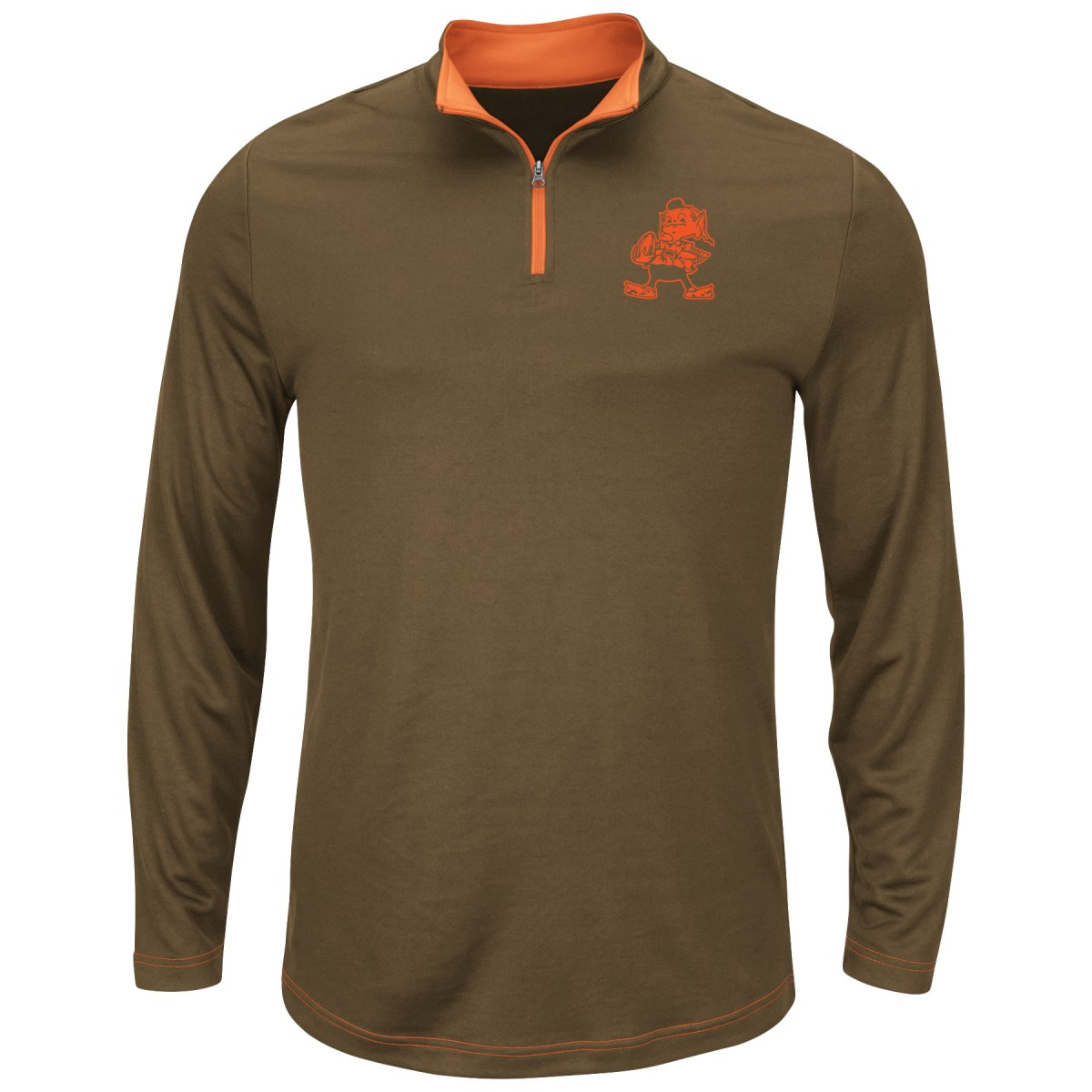 "Cleveland Browns Majestic ""Ready"" Men's 1/4 Zip Therma Base Pullover Shirt"
