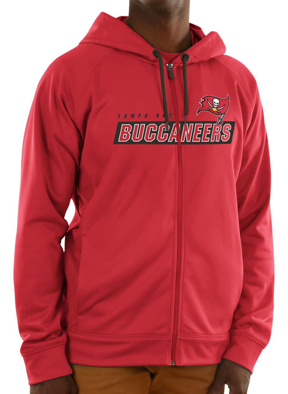Tampa Bay Buccaneers Majestic NFL Game Elite 2 Men's Full Zip Hooded Sweatshirt