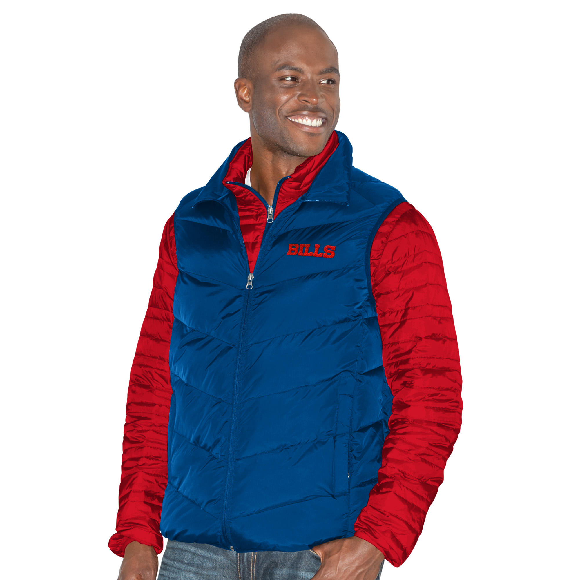 "Buffalo Bills G-III NFL ""Three N Out"" Systems 3-in-1 Premium Vest Jacket"