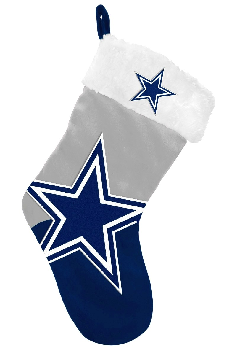 Dallas Cowboys 2018 NFL Basic Logo Plush Christmas Stocking
