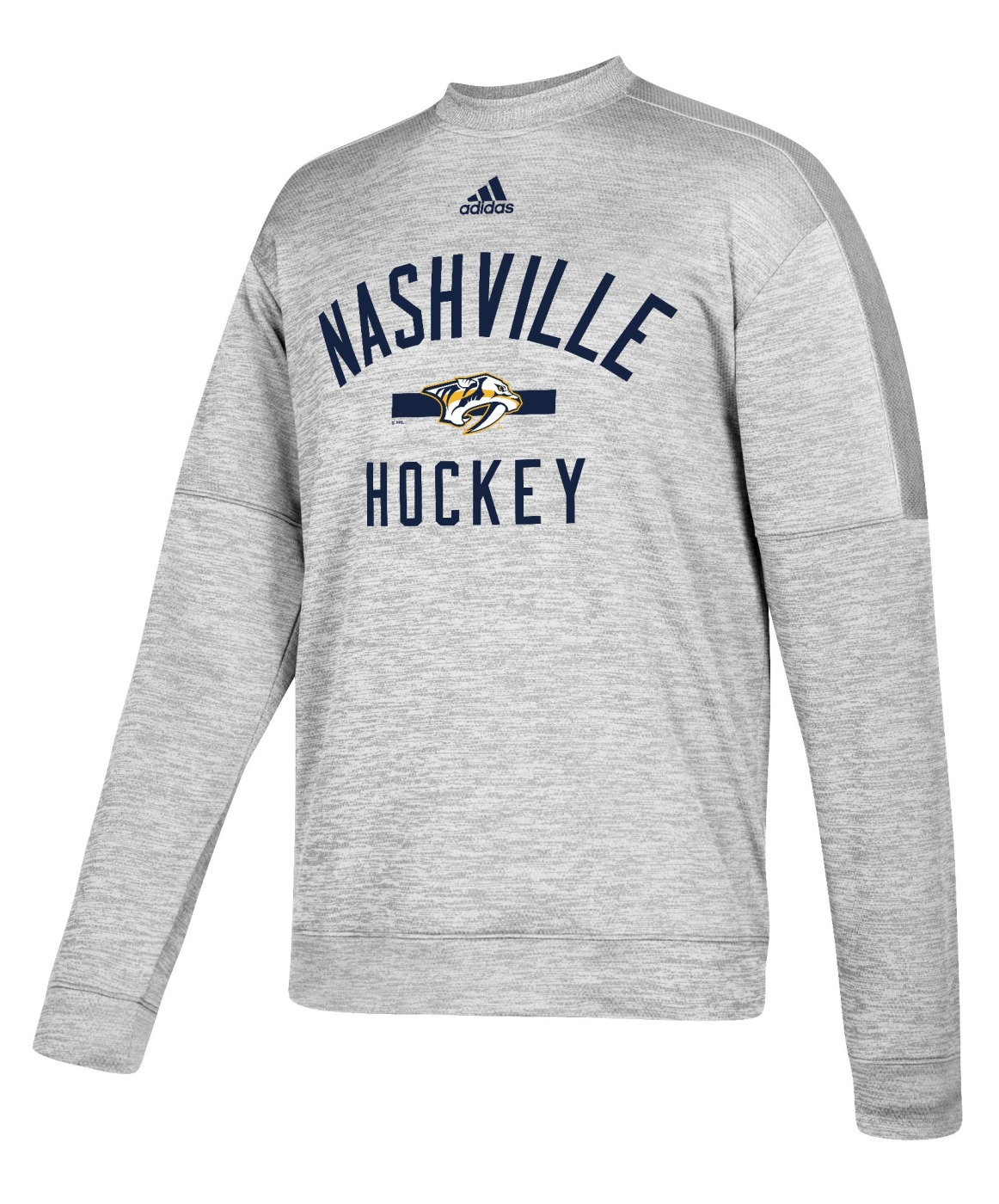 "Nashville Predators Adidas NHL Men's ""Archer"" Crewneck Fleece Sweatshirt"