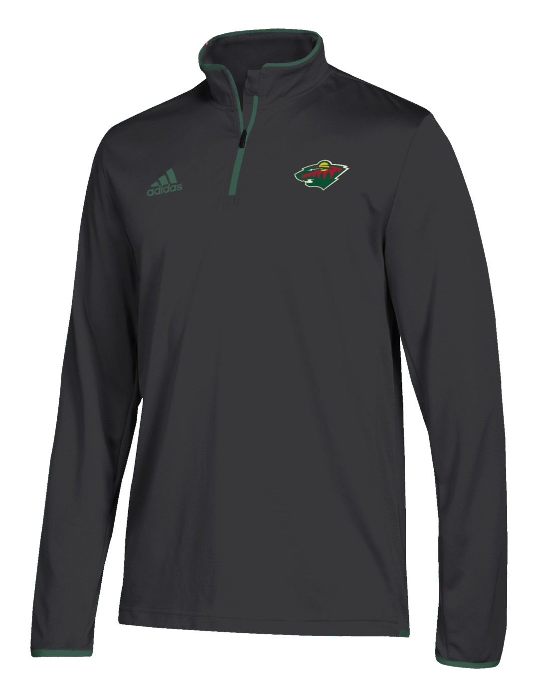 Minnesota Wild Adidas NHL Men's 2018 Authentic Pro 1/4 Zip Wind Shirt