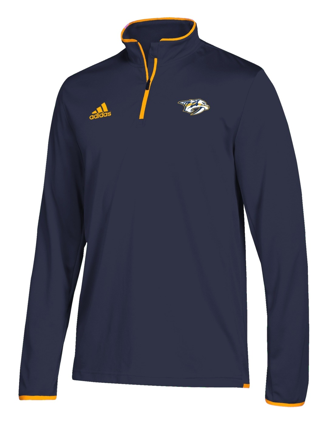 Nashville Predators Adidas NHL Men's 2018 Authentic Pro 1/4 Zip Wind Shirt