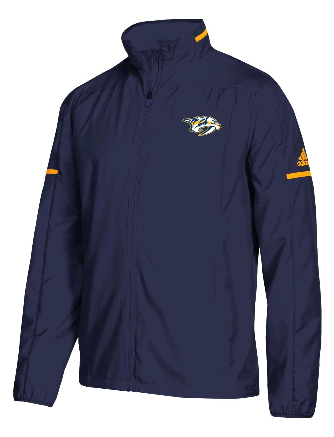 "Nashville Predators Adidas NHL Men's ""Penalty Box"" Full Zip Rink Jacket"